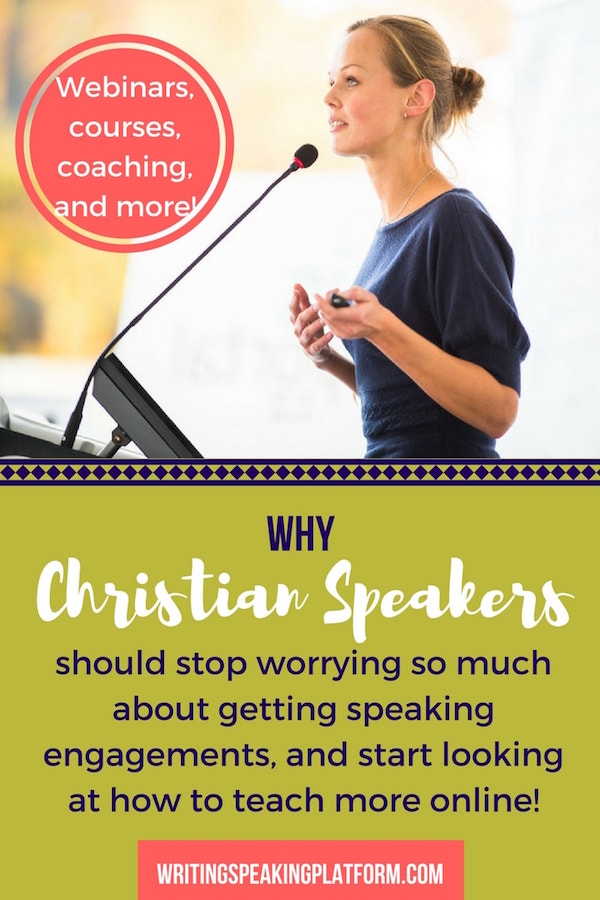 How Christian Women's Speakers can teach more online, rather than just relying on conference engagements to spread the message we have.